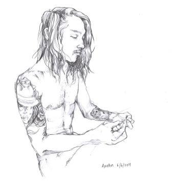 Portrait of Callum // pencil on paper