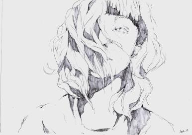 Selfportrait // pencil on paper