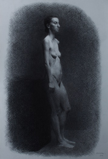 5 week charcoal longpose of Lucia.