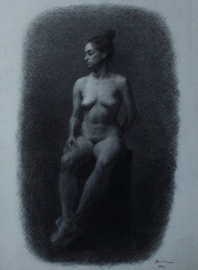 5,5 week charcoal longpose of Sophia.