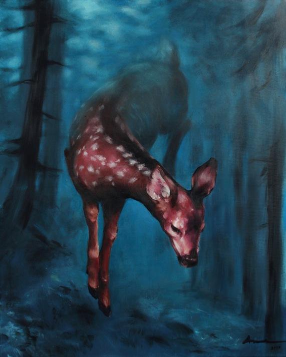 Forestfawn // acrylics on canvas 2017