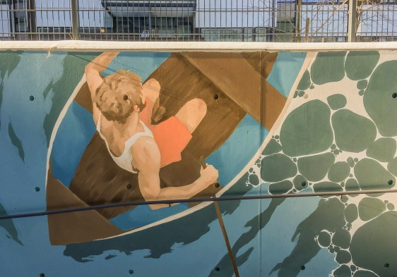 Part of a mural in Kalasatama, Helsinki 2017